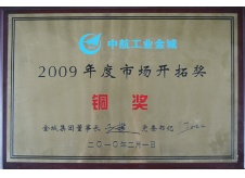 Jincheng Corporation marketing award(2009)